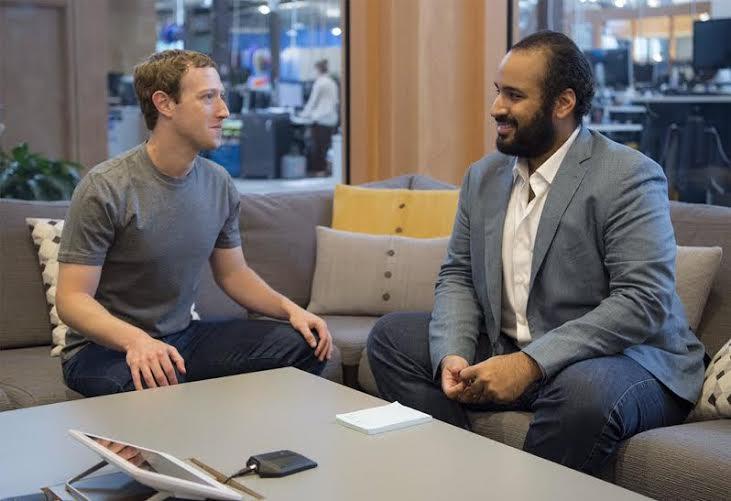 ولي ولي العهد يزور فيس بوك ويلتقي مارك زوكربيرغ