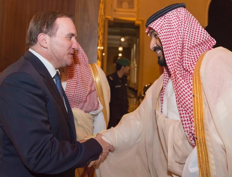 ولي ولي العهد يستقبل رئيس وزراء السويد 1
