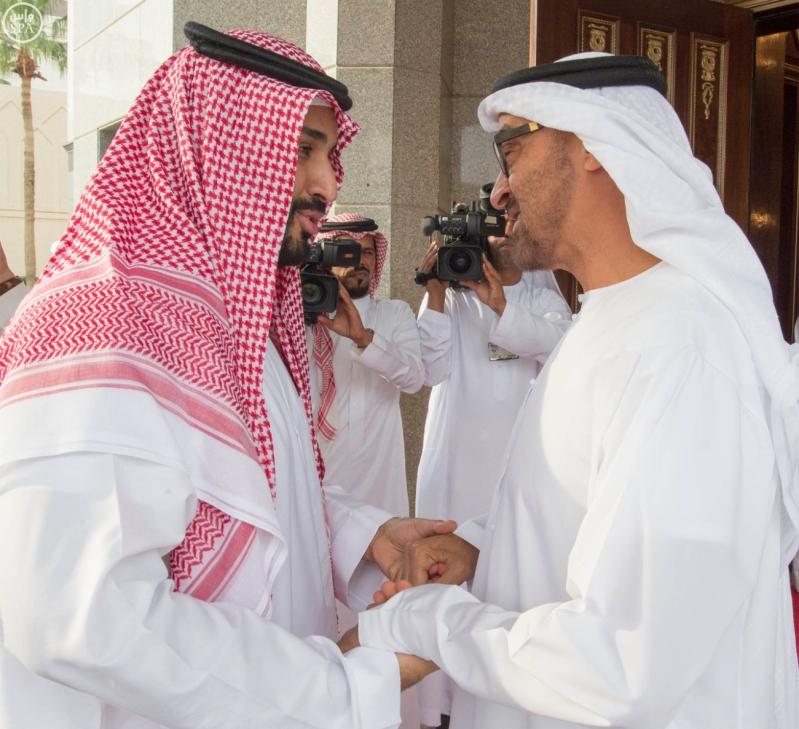 ولي ولي العهد يلتقى مع محمد بن زايد (1) 