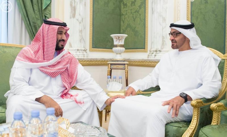ولي ولي العهد يلتقى مع محمد بن زايد (34669058)  