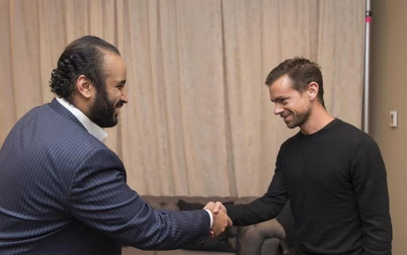 ولي ولي العهد يلتقي بالرئيس التنفيذي لشركة تويتر في نيويورك