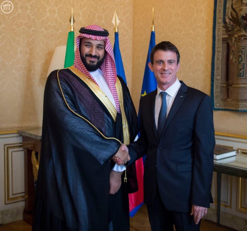 ولي ولي العهد يلتقي رئيس الوزراء الفرنسي (140560325) 
