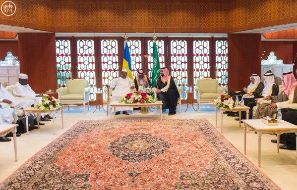 ولي ولي العهد يلتقي رئيس جمهورية تشاد.