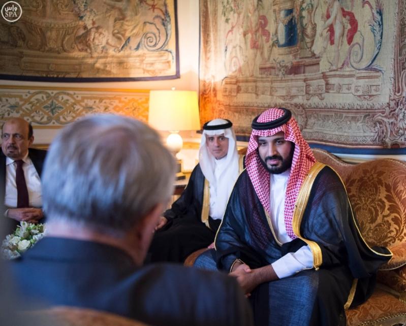 ولي-ولي-العهد-يلتقي-وزير-الخارجية-الفرنسي-ويبحث-معه-تطورات-الأحداث-بالمنطقة3-799x642