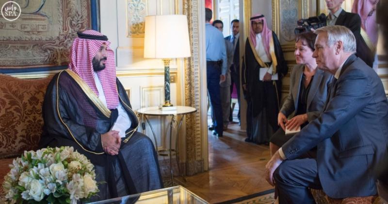 ولي ولي العهد يلتقي وزير الخارجية الفرنسي ويبحث معه تطورات الأحداث بالمنطقة4