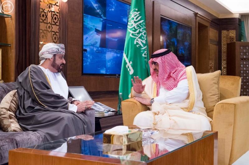 #ولي_العهد يبحث العلاقات الثنائية مع وزير داخلية #عمان (1)