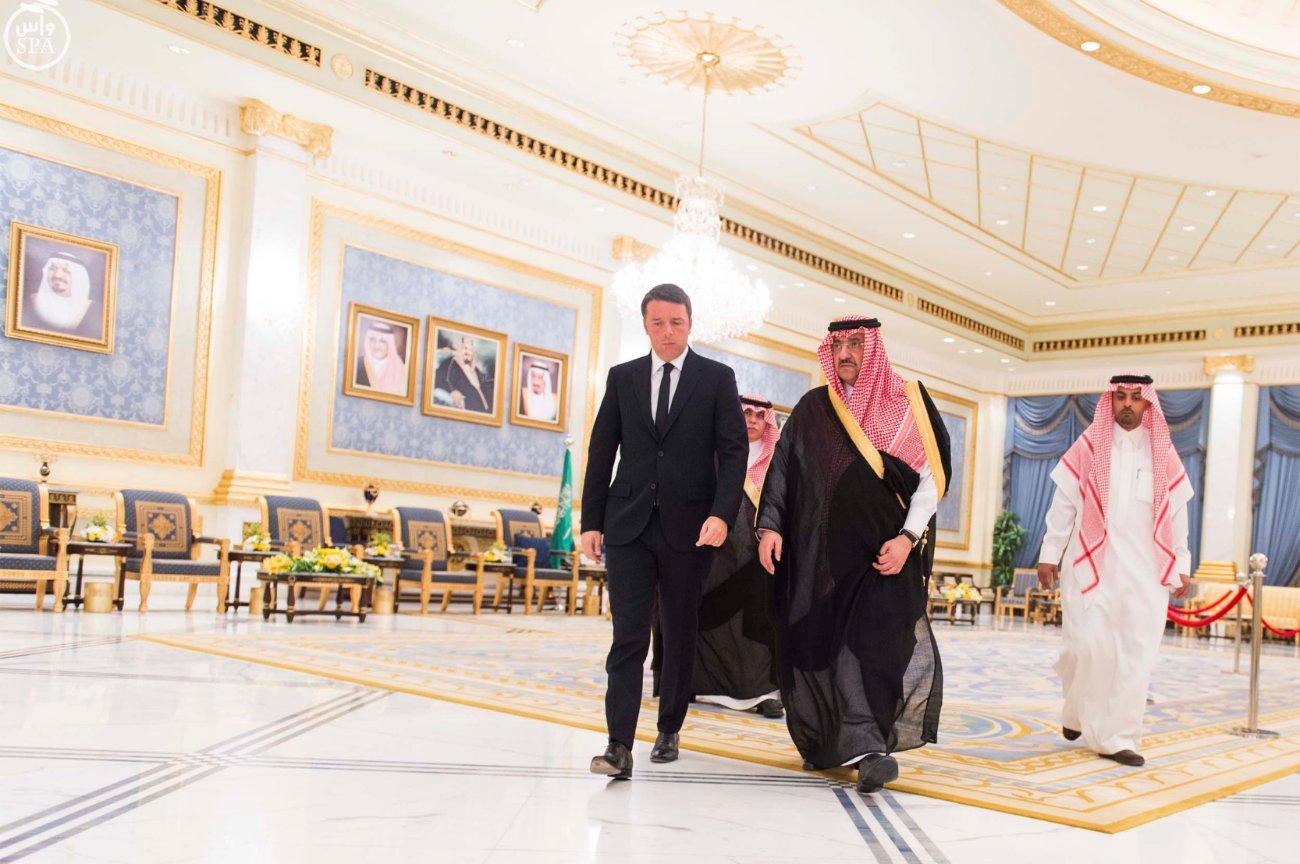 ولي_العهد يستقبل رئيس الوزراء الإيطالي  (2)