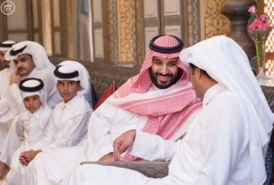 ولي_ولي_العهد وأمير قطر يبحثان العلاقات الأخوية وتطورات المنطقة (1)