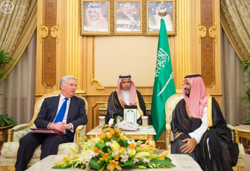 #ولي_ولي_العهد يبحث مع وزير دفاع بريطانيا جهود مكافحة الإرهاب