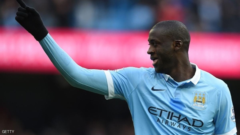 Manchester City's Ivorian midfielder and captain Yaya Toure celebrates scoring his team's first goal during the English Premier League football match between Manchester City and Aston Villa at the Etihad Stadium in Manchester, north west England, on March 5, 2016. / AFP / PAUL ELLIS / RESTRICTED TO EDITORIAL USE. No use with unauthorized audio, video, data, fixture lists, club/league logos or 'live' services. Online in-match use limited to 75 images, no video emulation. No use in betting, games or single club/league/player publications.  /         (Photo credit should read PAUL ELLIS/AFP/Getty Images)