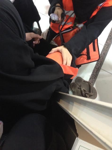 ١٢٠ متطوعة بالهلال الأحمر يعملن أيام العيد في الحرم المكي بالحج1