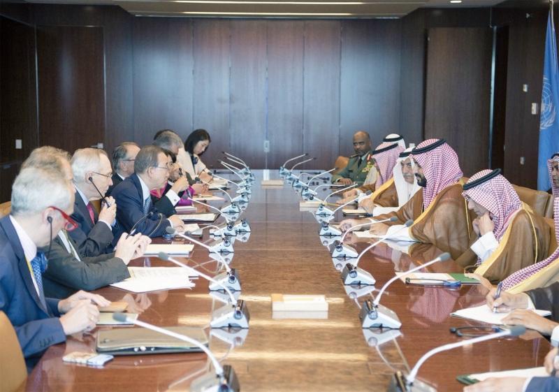 جانب من لقاء  ولي ولي العهد مع أمين عام  الأمم المتحدة   (273209061) 