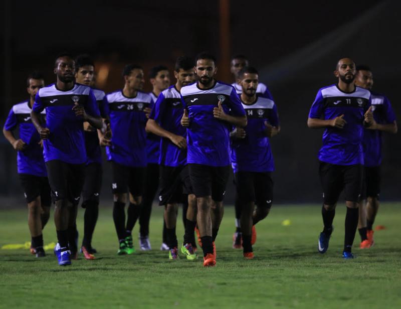 هجر يجري مرانه الرئيسي استعداداً لمباراة ضمك في كأس ولي العهد