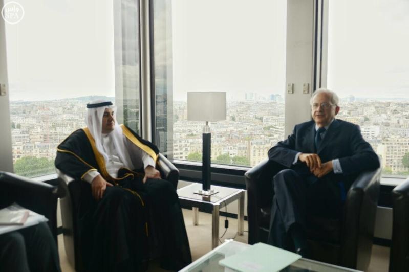 """""""الطريفي"""" يلتقي رئيس المجلس الفرنسي للإعلام السمعي والبصري"""
