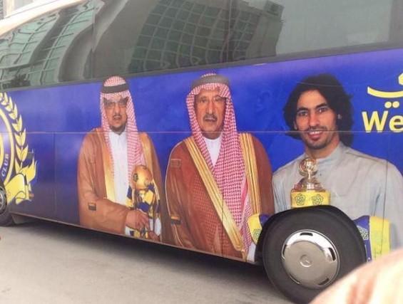 بالصورة.. حافلة الأبطال على غرار الأندية العالمية - المواطن