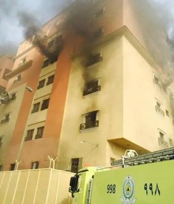 حريق-برج-الخبر-السكني (3)