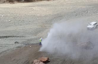 """""""المواطن"""" ترصد إصلاح أنبوب المياه المحلاة بوادي ضلع بـ #تهامة - المواطن"""