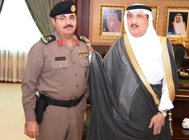 أمير جازان يقلد مساعد مدير الشرطة  القحطاني  رتبة لواء1