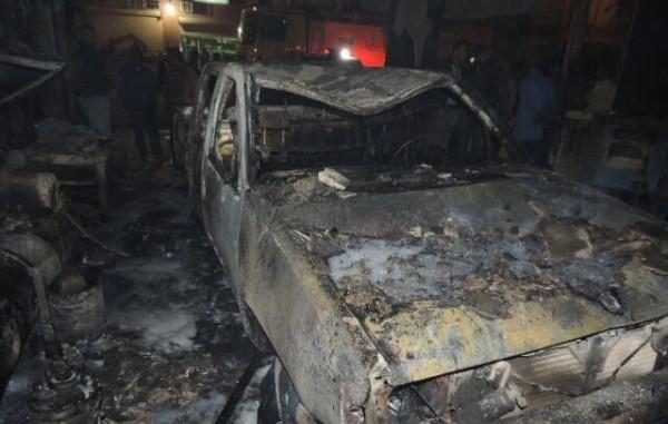 مدني عرعر يخمد حريقا (2)