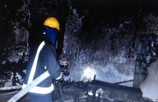 حريق في منزل سويلم (5)