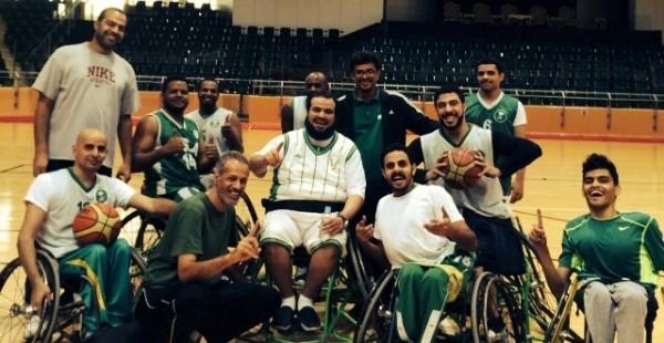 المنتخ السعودي لكرة السلة بالكراسي المتحركه