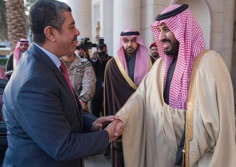 سمو ولي ولي العهد يستقبل نائب الرئيس اليمني رئيس مجلس الوزراء ويبحث معه تطورات الأوضاع في اليمن.