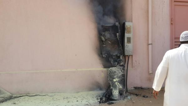 حريق بالقاطع الكهربائي بمدرسة حفار بالليث - المواطن