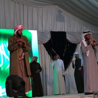 تجهيزات في مخيم أعد لاستقبال الأمير سلطان بن سلمان  رئيس هيئة السياحة والآثار بمنطقة عفراء في محافظة بالقرن.