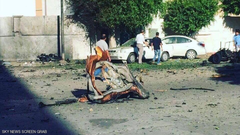 انفجار قرب مقر حكومة الوفاق الليبية بطرابلس