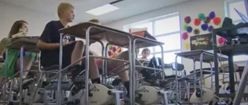 شاهد.. درّاجات ثابتة للطلاب في الفصل
