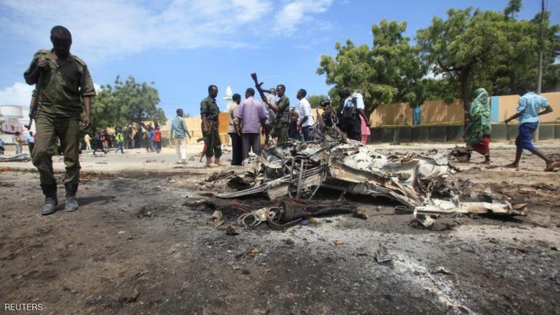 انفجار سيارة ملغومة بالقرب من مقر إقامة الرئيس الصومالي بمقديشو
