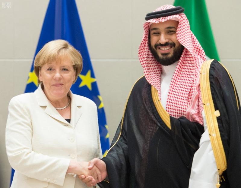 سمو ولي ولي العهد يلتقي المستشارة الالمانية على هامش انعقاد قمة قادة مجموعة العشرين