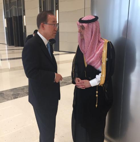 الجبير يلتقي الأمين العام للأمم المتحدة على بقمة العشرين