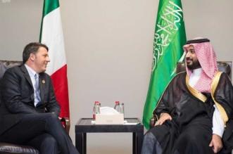 ولي ولي العهد يلتقي رئيس وزراء ايطاليا في قمة العشرين - المواطن