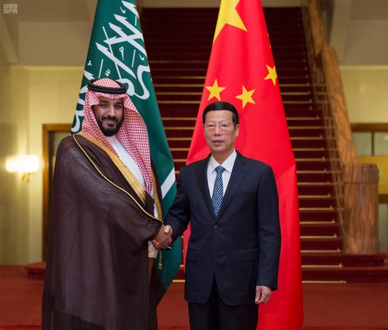 ولي ولي لعهد يبحث جهود تعزيز التعاون مع نائب رئيس وزراء الصين