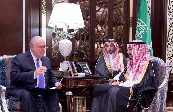 000-ولي العهد يبحث مع سفير أمريكا في المملكة علاقات البلدين