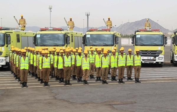 الدفاع المدني يباشر مهامه في الحج بـ15200 ضابط وفرد
