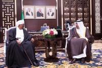 الأمير سلمان بن عبدالعزيز وعمر البشير