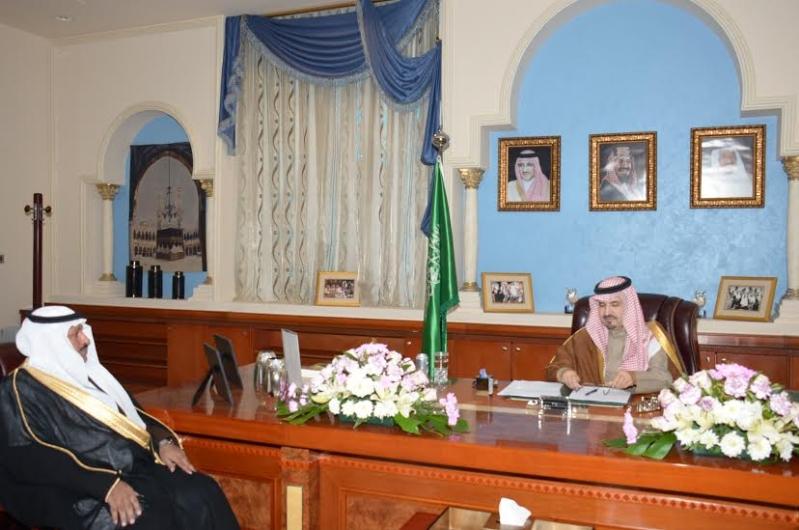 أمير #الجوف يستقبل مدير عام شؤون الزراعة الجديد