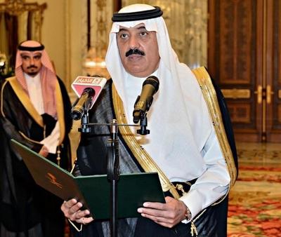 الأمير متعب بن عبدالله يؤدي القسم بين يدي خادم الحرمين - المواطن
