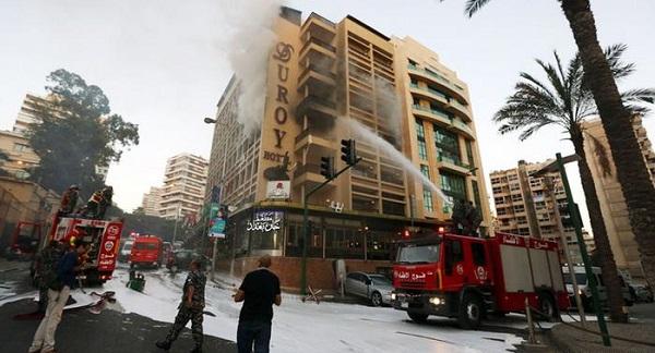 """تفجرات للسعوديين في فندق """"دو روي"""" في بيروت"""