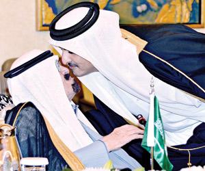 أمير دولة قطر تميم و الملك عبدالله