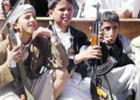 اطفال اليمن بالسلاح - سلاح