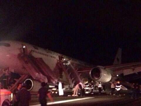بالفيديو والصور.. براعة طيار تُنقذ 300 راكب في مطار المدينة المنورة - المواطن