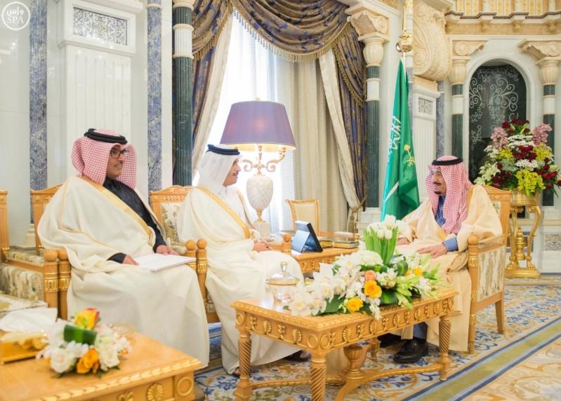 1خادم الحرمين يتسلم رسالة من أمير دولة قطر