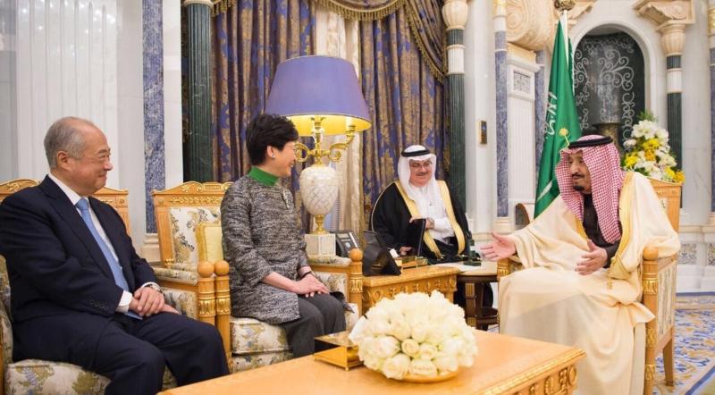 خادم الحرمين يستقبل الرئيسة التنفيذية لحكومة هونج كونج - المواطن