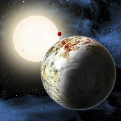 A new type of planet discovered by astronomers is seen in a handout illustration