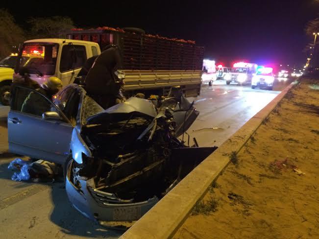 وفاة شخص ونجاة أم وطفلتها بحادث مروّع في #بريدة1