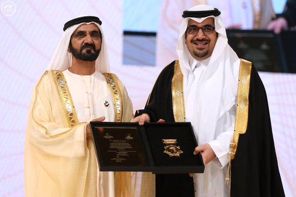 ابن مساعد يهنئ نواف بن فيصل لتكريمه بجائزة محمد بن راشد للإبداع بـ #دبي1