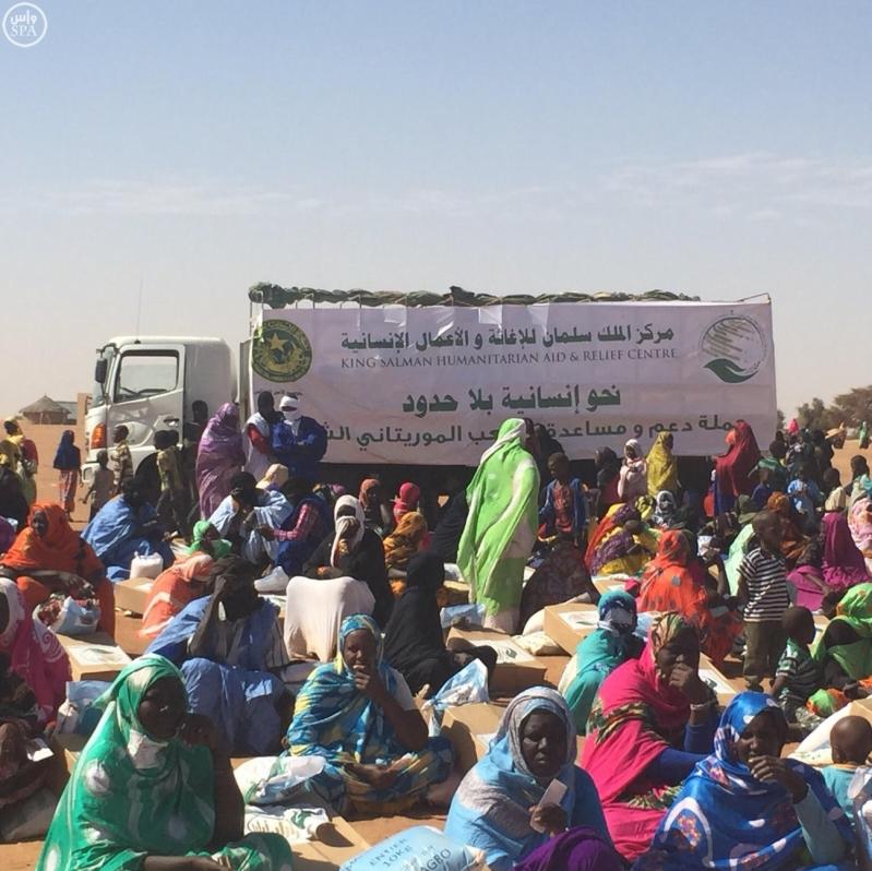 مركز الملك سلمان للإغاثة يوزع 60 ألف سلة غذائية لمنكوبي موريتانيا1